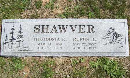 SHAWVER, THEODOSHIA E. - Benton County, Arkansas   THEODOSHIA E. SHAWVER - Arkansas Gravestone Photos