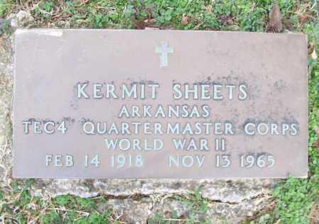 SHEETS (VETERAN WWII), KERMIT - Benton County, Arkansas | KERMIT SHEETS (VETERAN WWII) - Arkansas Gravestone Photos