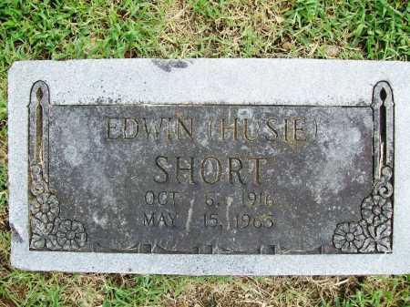 SHORT, EDWIN (HUSIE) - Benton County, Arkansas   EDWIN (HUSIE) SHORT - Arkansas Gravestone Photos