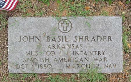 SHRADER (VETERAN SAW), JOHN BASIL - Benton County, Arkansas   JOHN BASIL SHRADER (VETERAN SAW) - Arkansas Gravestone Photos