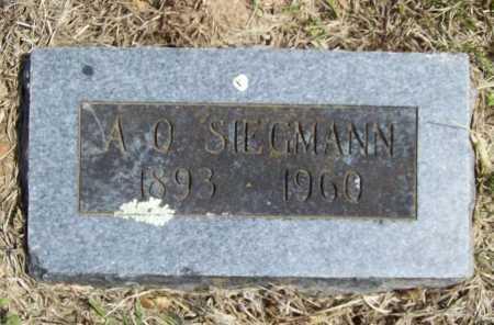 SIEGMANN, A. O. - Benton County, Arkansas   A. O. SIEGMANN - Arkansas Gravestone Photos