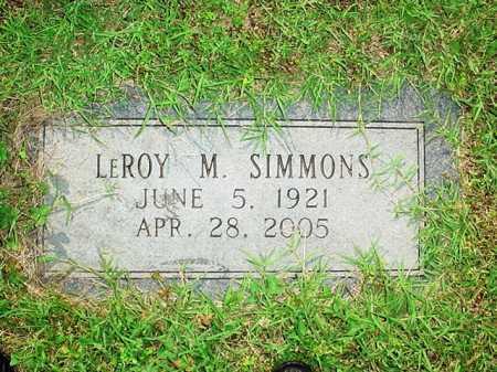 SIMMONS, LEROY M. - Benton County, Arkansas   LEROY M. SIMMONS - Arkansas Gravestone Photos