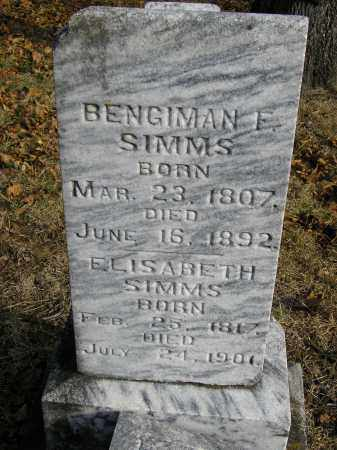 SIMMS, BENGIMAN F - Benton County, Arkansas | BENGIMAN F SIMMS - Arkansas Gravestone Photos