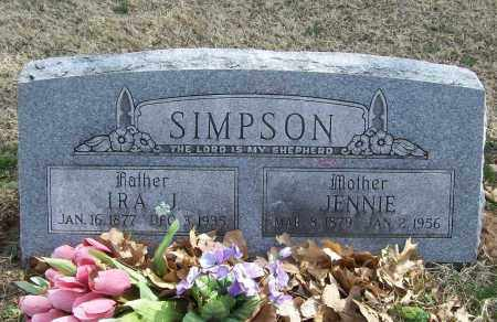 SIMPSON, IRA J - Benton County, Arkansas | IRA J SIMPSON - Arkansas Gravestone Photos