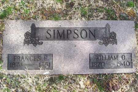 SIMPSON, WILLIAM O. - Benton County, Arkansas | WILLIAM O. SIMPSON - Arkansas Gravestone Photos
