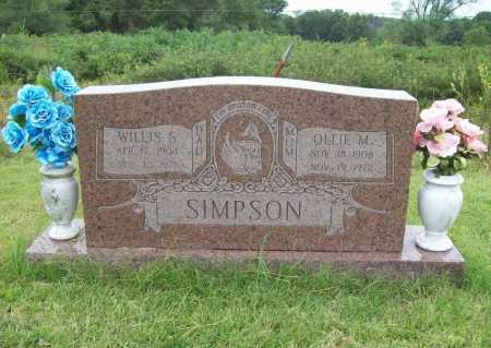 SIMPSON, WILLIS S. - Benton County, Arkansas | WILLIS S. SIMPSON - Arkansas Gravestone Photos