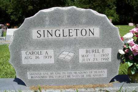 SINGLETON, BUREL F. - Benton County, Arkansas | BUREL F. SINGLETON - Arkansas Gravestone Photos