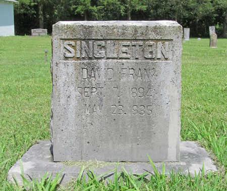 SINGLETON, DAVID FRANK - Benton County, Arkansas   DAVID FRANK SINGLETON - Arkansas Gravestone Photos