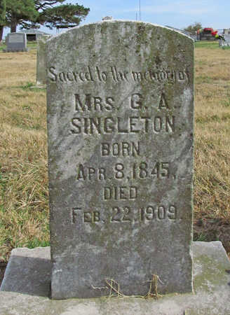 SINGLETON, G A MRS - Benton County, Arkansas | G A MRS SINGLETON - Arkansas Gravestone Photos