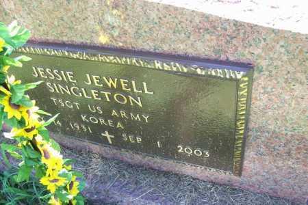 SINGLETON (VETERAN KOR), JESSIE JEWELL - Benton County, Arkansas   JESSIE JEWELL SINGLETON (VETERAN KOR) - Arkansas Gravestone Photos