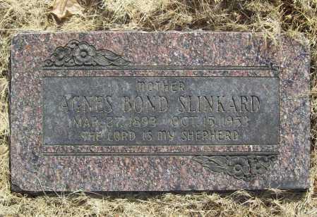 BOND SLINKARD, AGNES - Benton County, Arkansas | AGNES BOND SLINKARD - Arkansas Gravestone Photos