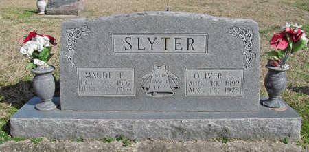 SLYTER, MAUDE E - Benton County, Arkansas | MAUDE E SLYTER - Arkansas Gravestone Photos