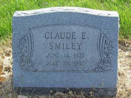 SMILEY, CLAUDE E. - Benton County, Arkansas | CLAUDE E. SMILEY - Arkansas Gravestone Photos