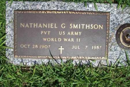 SMITHSON (VETERAN WWII), NATHANIEL G. - Benton County, Arkansas | NATHANIEL G. SMITHSON (VETERAN WWII) - Arkansas Gravestone Photos