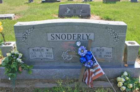 SNODERLY, MARGIE W. - Benton County, Arkansas | MARGIE W. SNODERLY - Arkansas Gravestone Photos