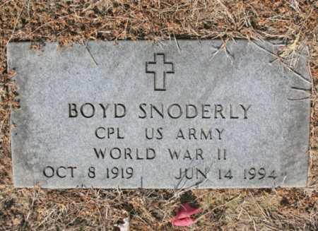 SNODERLY (VETERAN WWII), BOYD - Benton County, Arkansas | BOYD SNODERLY (VETERAN WWII) - Arkansas Gravestone Photos