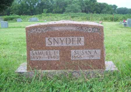 SNYDER, SUSAN A, - Benton County, Arkansas | SUSAN A, SNYDER - Arkansas Gravestone Photos