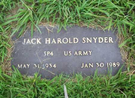 SNYDER (VETERAN), JACK HAROLD - Benton County, Arkansas   JACK HAROLD SNYDER (VETERAN) - Arkansas Gravestone Photos