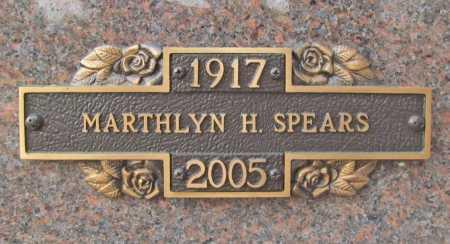 DENISON SPEARS, MARTHLYN HOPE - Benton County, Arkansas | MARTHLYN HOPE DENISON SPEARS - Arkansas Gravestone Photos