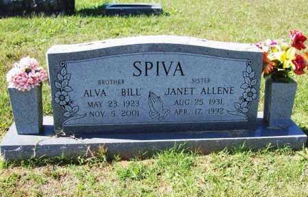 "SPIVA, ALVA LEE  ""BILL"" - Benton County, Arkansas | ALVA LEE  ""BILL"" SPIVA - Arkansas Gravestone Photos"