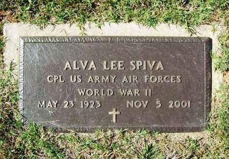 SPIVA (VETERAN WWII), ALVA LEE - Benton County, Arkansas | ALVA LEE SPIVA (VETERAN WWII) - Arkansas Gravestone Photos