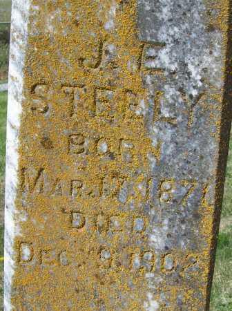 STEELY, J. E. (CLOSEUP) - Benton County, Arkansas | J. E. (CLOSEUP) STEELY - Arkansas Gravestone Photos