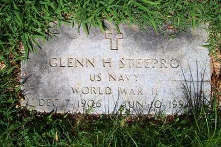 STEEPRO (VETERAN WWII), GLENN H. - Benton County, Arkansas | GLENN H. STEEPRO (VETERAN WWII) - Arkansas Gravestone Photos