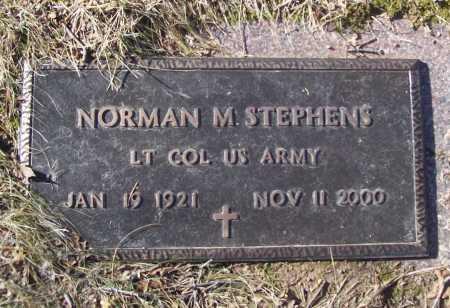 STEPHENS (VETERAN 3 WARS), NORMAN M - Benton County, Arkansas | NORMAN M STEPHENS (VETERAN 3 WARS) - Arkansas Gravestone Photos