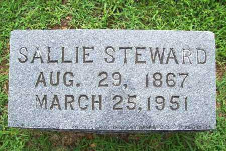 STEWARD, SALLIE - Benton County, Arkansas | SALLIE STEWARD - Arkansas Gravestone Photos