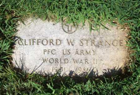 STRANGE (VETERAN WWII), CLIFFORD W. - Benton County, Arkansas | CLIFFORD W. STRANGE (VETERAN WWII) - Arkansas Gravestone Photos