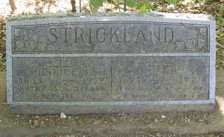 STRICKLAND, GEORGE W. - Benton County, Arkansas | GEORGE W. STRICKLAND - Arkansas Gravestone Photos