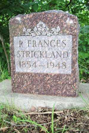 STRICKLAND, R. FRANCES - Benton County, Arkansas   R. FRANCES STRICKLAND - Arkansas Gravestone Photos