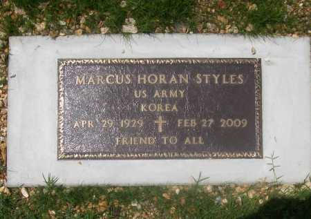"STYLES (VETERAN KOR), MARCUS HORAN ""MARK"" - Benton County, Arkansas | MARCUS HORAN ""MARK"" STYLES (VETERAN KOR) - Arkansas Gravestone Photos"