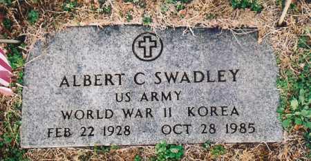 SWADLEY (VETERAN 2 WARS), ALBERT C. - Benton County, Arkansas | ALBERT C. SWADLEY (VETERAN 2 WARS) - Arkansas Gravestone Photos