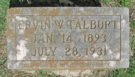 TALBURT, ERVIN W - Benton County, Arkansas | ERVIN W TALBURT - Arkansas Gravestone Photos