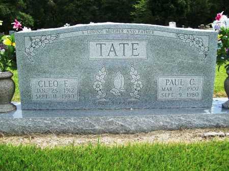 TATE, CLEO E. - Benton County, Arkansas   CLEO E. TATE - Arkansas Gravestone Photos