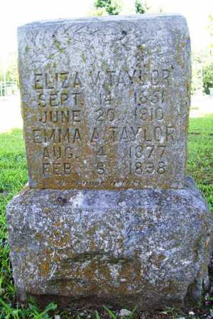 TAYLOR, ELIZA V. - Benton County, Arkansas | ELIZA V. TAYLOR - Arkansas Gravestone Photos