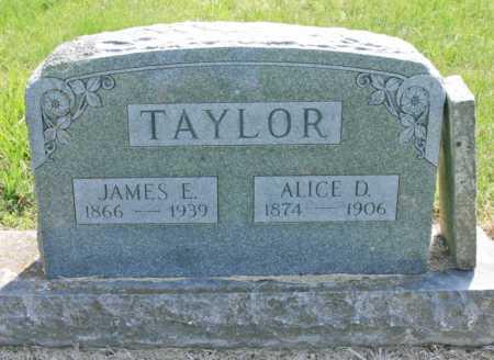 TAYLOR, ALICE D. - Benton County, Arkansas | ALICE D. TAYLOR - Arkansas Gravestone Photos