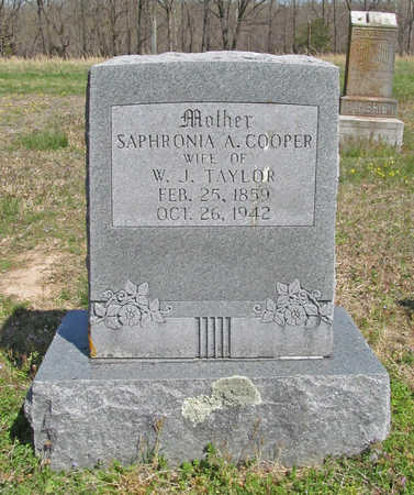 TAYLOR, SAPHRONIA A - Benton County, Arkansas | SAPHRONIA A TAYLOR - Arkansas Gravestone Photos