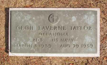 TAYLOR (VETERAN), CECIL LAVERNE - Benton County, Arkansas | CECIL LAVERNE TAYLOR (VETERAN) - Arkansas Gravestone Photos