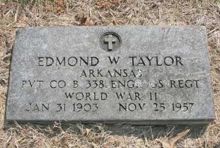 TAYLOR (VETERAN WWII), EDMOND W - Benton County, Arkansas   EDMOND W TAYLOR (VETERAN WWII) - Arkansas Gravestone Photos