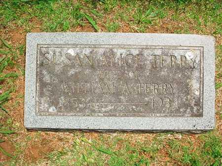 TERRY, SUSAN ALICE - Benton County, Arkansas   SUSAN ALICE TERRY - Arkansas Gravestone Photos