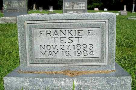 TEST, FRANKIE E. - Benton County, Arkansas | FRANKIE E. TEST - Arkansas Gravestone Photos