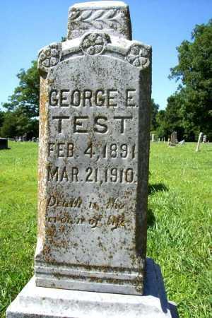 TEST, GEORGE E. - Benton County, Arkansas | GEORGE E. TEST - Arkansas Gravestone Photos