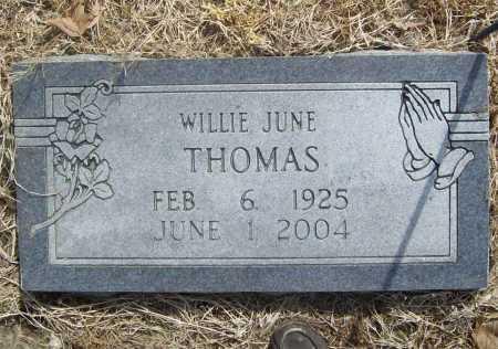FORTNER THOMAS, WILLIE JUNE - Benton County, Arkansas   WILLIE JUNE FORTNER THOMAS - Arkansas Gravestone Photos