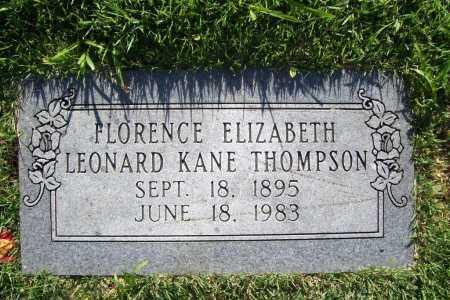 LEONARD THOMPSON, FLORENCE ELIZABETH KANE - Benton County, Arkansas | FLORENCE ELIZABETH KANE LEONARD THOMPSON - Arkansas Gravestone Photos