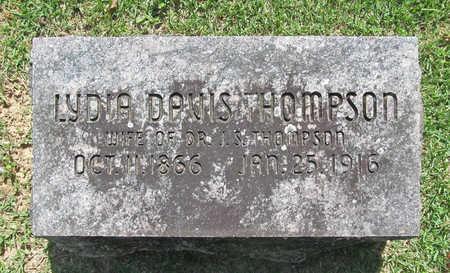 DAVIS THOMPSON, LYDIA - Benton County, Arkansas   LYDIA DAVIS THOMPSON - Arkansas Gravestone Photos