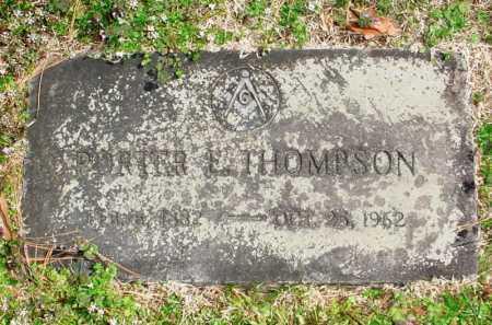 THOMPSON, PORTER E. - Benton County, Arkansas | PORTER E. THOMPSON - Arkansas Gravestone Photos