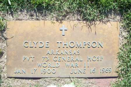 THOMPSON (VETERAN WWII), CLYDE - Benton County, Arkansas | CLYDE THOMPSON (VETERAN WWII) - Arkansas Gravestone Photos