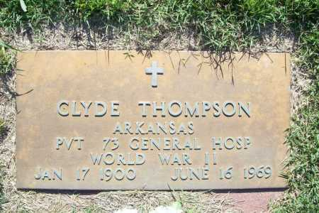 THOMPSON (VETERAN WWII), CLYDE - Benton County, Arkansas | CLYDE THOMPSON (VETERAN WWII) - Arkansas Gravestone Photos